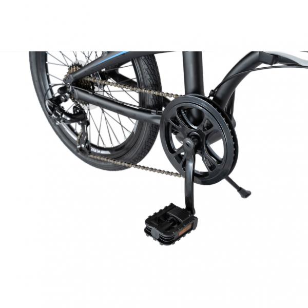 """Bicicleta pliabila 20"""" CARPAT C2052C, echipare SHIMANO 7 viteze, culoare negru/albastru 5"""