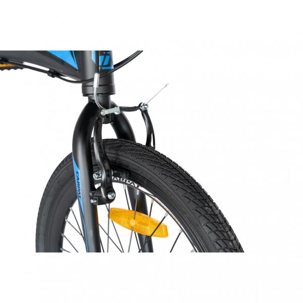 """Bicicleta pliabila 20"""" CARPAT C2052C, echipare SHIMANO 7 viteze, culoare negru/albastru 10"""