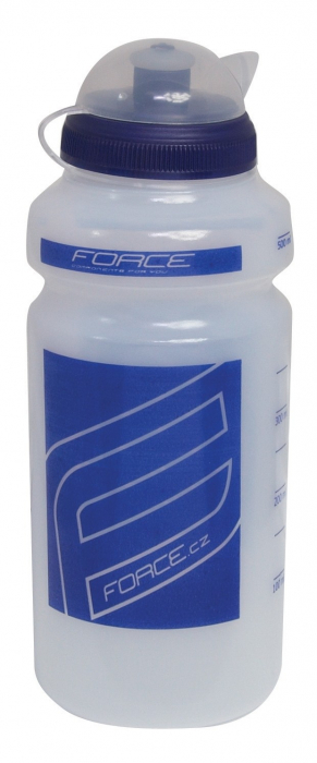 Bidon Force F 0.5l transparent/albastru [0]