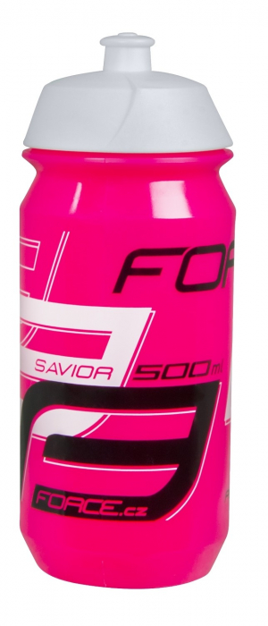 Bidon Force Savior 0.5L, roz/alb/negru [0]