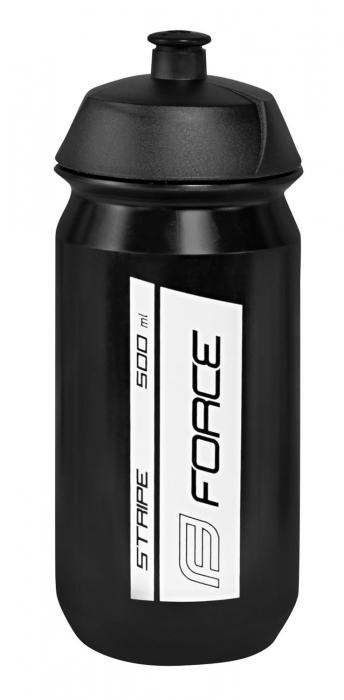Bidon Force Stripe 0.5l negru/alb [0]
