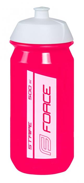 Bidon Force Stripe 0.5l roz/alb [0]
