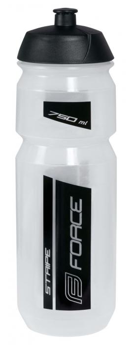 Bidon Force Stripe 0.75l transparent/negru [0]
