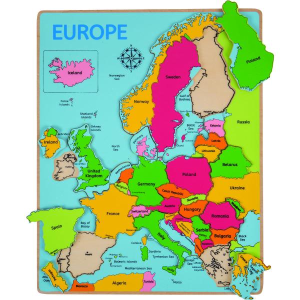 Puzzle incastru harta Europei 0