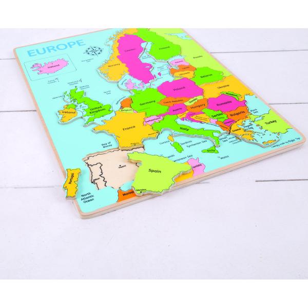 Puzzle incastru harta Europei 1