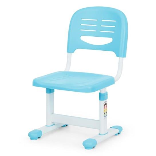 Birou de scris pentru copii, set de două piese, masă si scaun, reglabil pe înălțime, cu iluminare, albastru [7]
