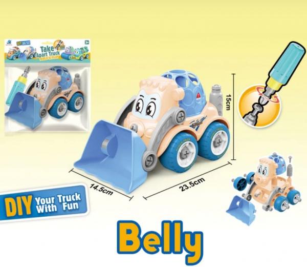 Jucarie creativa - Excavator de construit Belly 0