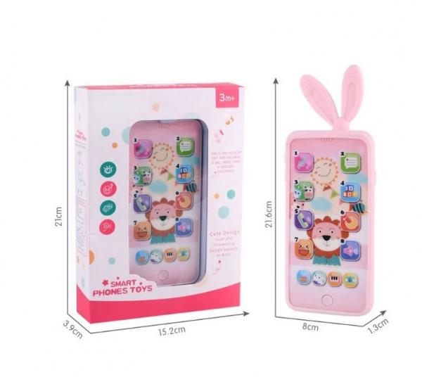 Jucarie interactiva telefon, Smart Phones Toys, + 3 luni, 4