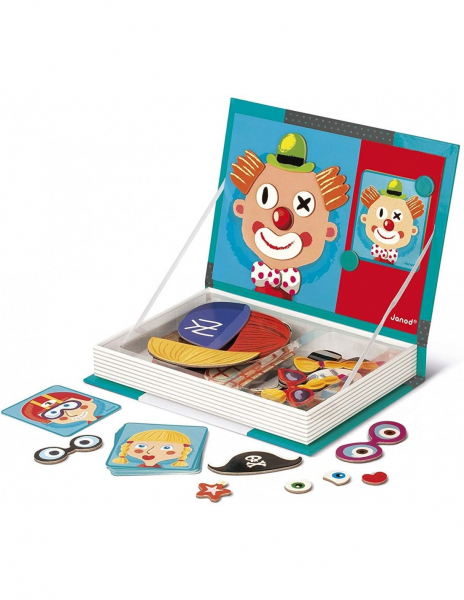 Carte magnetica Puzzle - Crazy Faces 12 planse 2