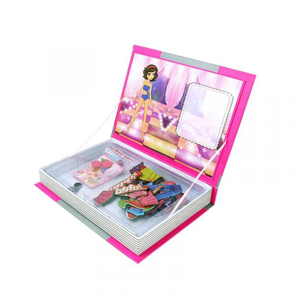 Carte magnetică Printesa - Îmbracă fetiţa, Joc Educativ STEM 1