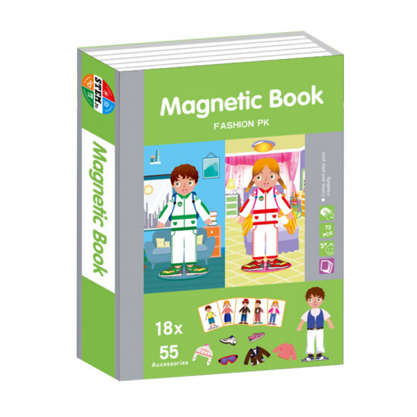 Carte magnetică Joc Educativ STEM, Fashion 0