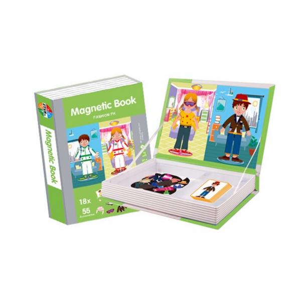 Carte magnetică Joc Educativ STEM, Fashion 2