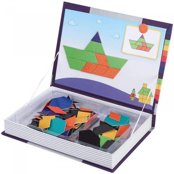 Carte magnetică educativă STEM, Tangram 0