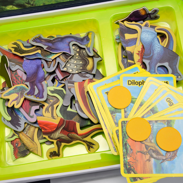 Carte magnetica, Joc Educativ STEM, Dinozauri 2