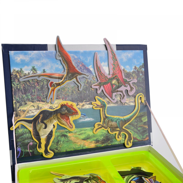 Carte magnetica, Joc Educativ STEM, Dinozauri 4