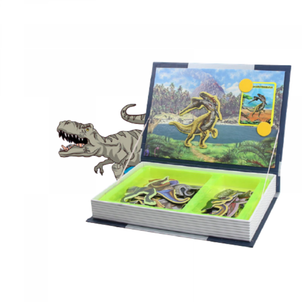 Carte magnetica, Joc Educativ STEM, Dinozauri 3