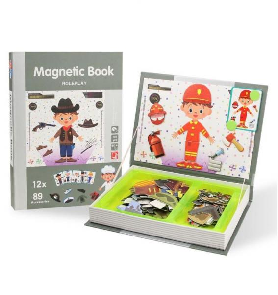 Carte magnetică educativă STEM, Role Play - Meserii 3