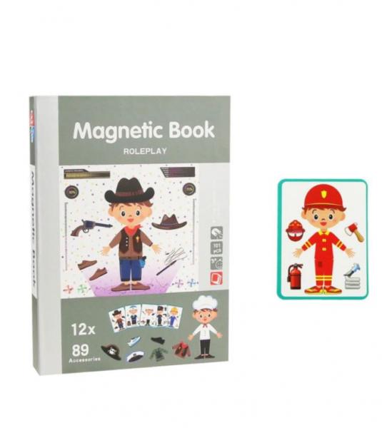 Carte magnetică educativă STEM, Role Play - Meserii 0