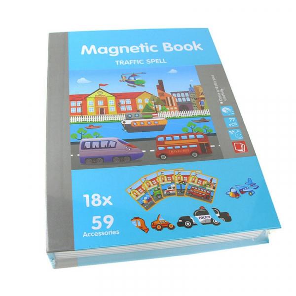 Carte magnetică,  Joc Educativ STEM - Puzzle cu trafic și mijloace de transport [1]