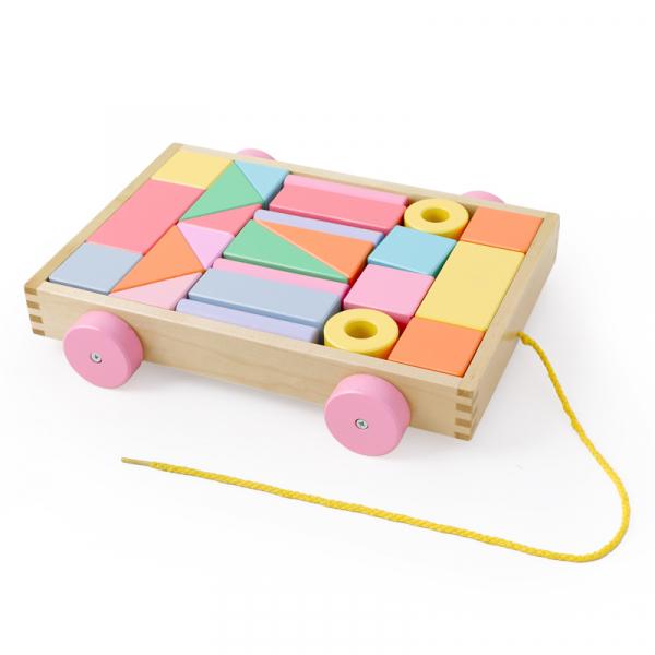 Cărucior cuburi lemn Block and Roll ONSHINE [3]