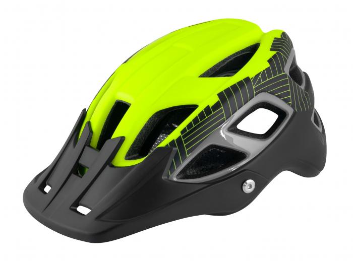 Casca Force Aves MTB E-bike, Fluo/Negru Mat S-M (55-59 cm) [0]