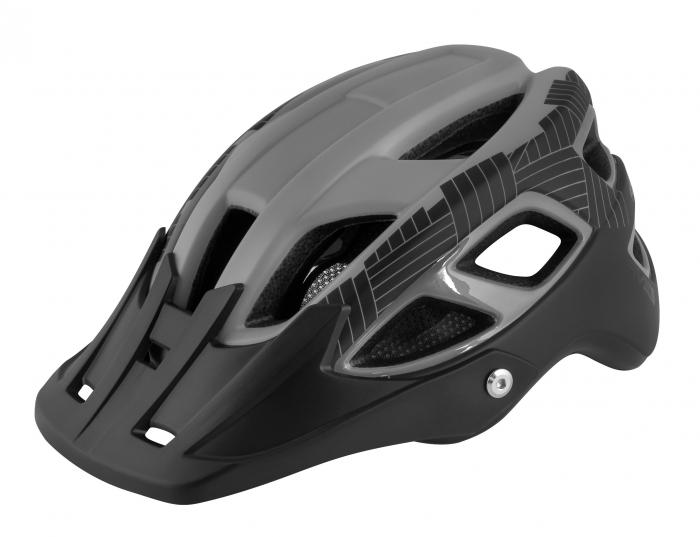 Casca Force Aves MTB E-bike, Gri/Negru Mat L-XL (58-61 cm) [0]