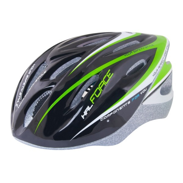 Casca Force Hal negru/verde/alb L-XL (58-62 cm) [0]