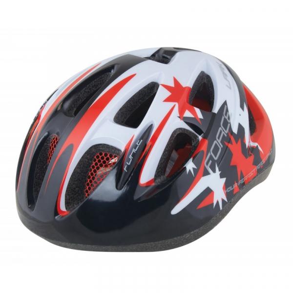 Casca protectie ciclsim pentru copii Force Lark negru/rosu/alb 0