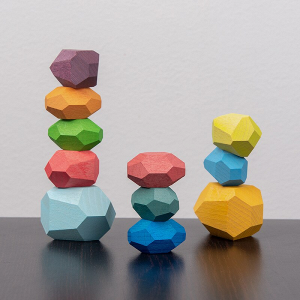 Pietre in echilibru - Joc stivuire din lemn, 22 piese [3]
