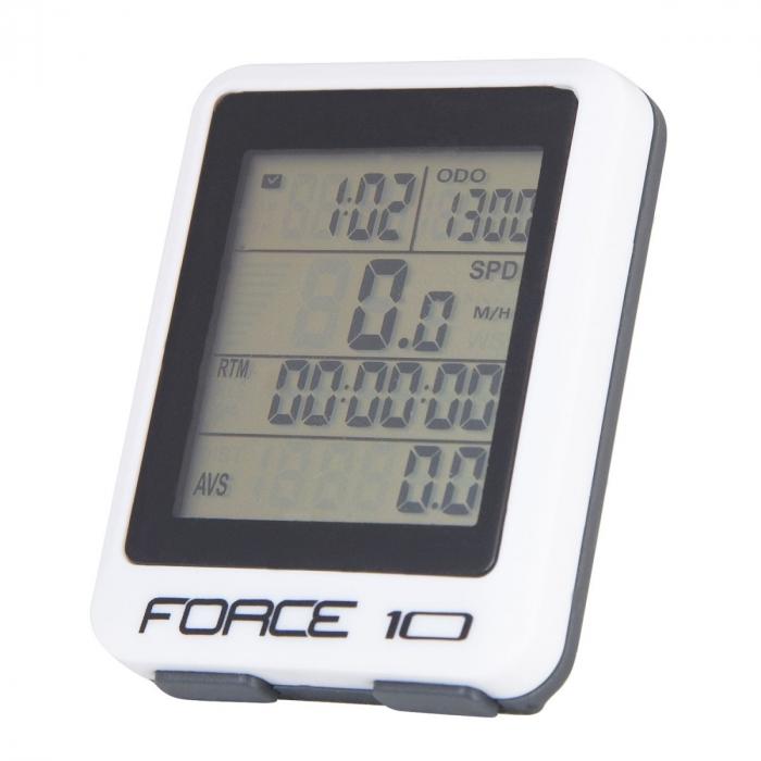 Ciclocomputer Force 10F cu fir alb [0]
