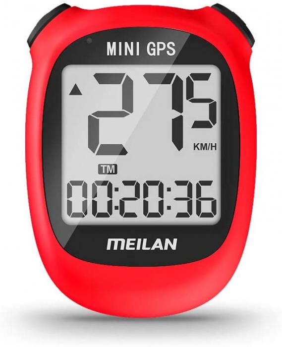 Ciclocomputer GPS pentru bicicleta Meilan M3 mini, Baterie reincarcabila 400 mAh, Rezistenta la apa IPX5, Ecran LCD (Rosu) [0]