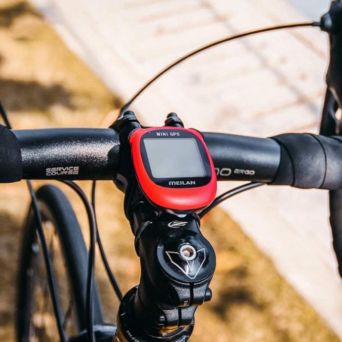 Ciclocomputer GPS pentru bicicleta Meilan M3 mini, Baterie reincarcabila 400 mAh, Rezistenta la apa IPX5, Ecran LCD (Rosu) [3]