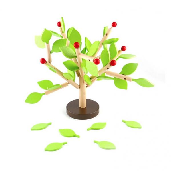 Copac Montessori din lemn MSN, + 3 ani, Verde, 35 x 35 cm 0