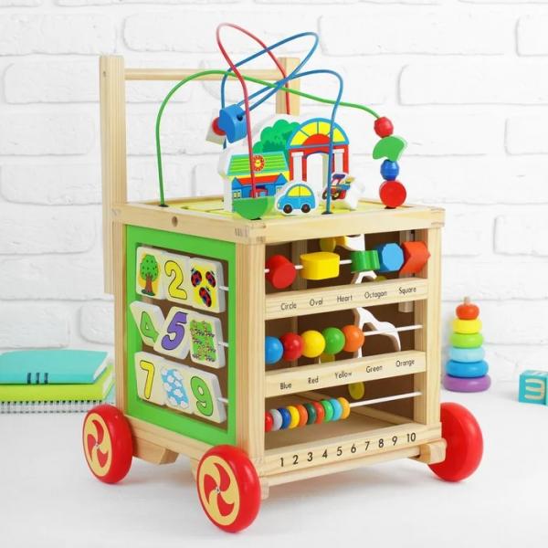 Cub educativ 6 in 1- antepremergator lemn cu activitati [7]