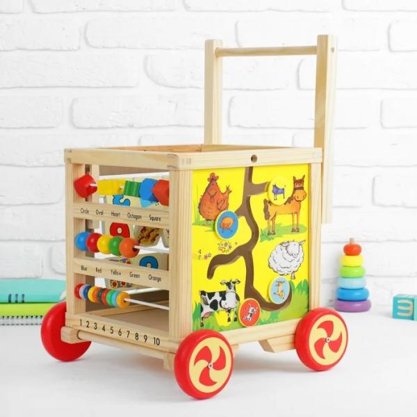 Cub educativ 6 in 1- antepremergator lemn cu activitati [9]