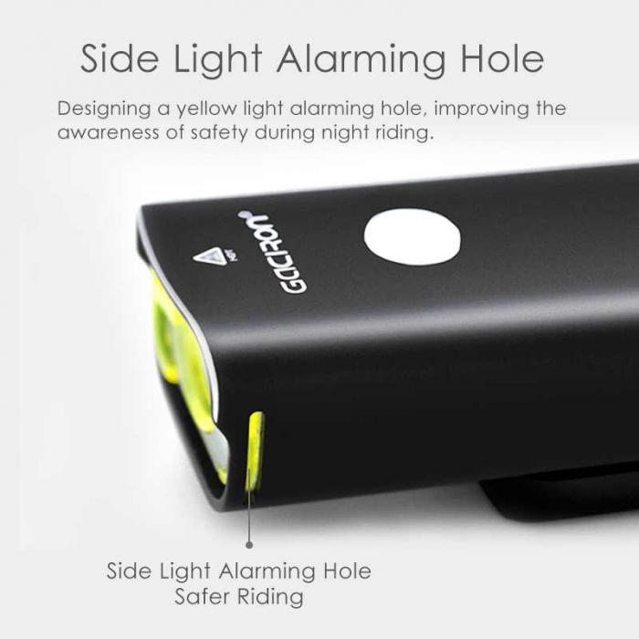 Far LED Gaciron V9C - 800 lumeni, Baterie Reincarcabila 2500 mah, Rezistenta la Apa IPX6 (Negru) [4]
