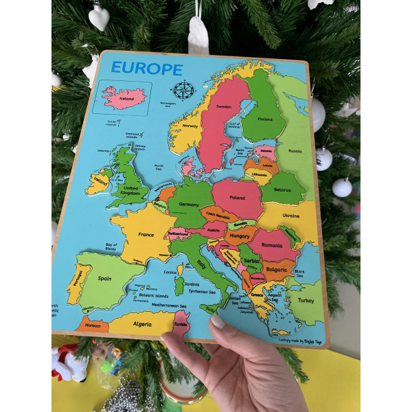 Puzzle incastru harta Europei 2