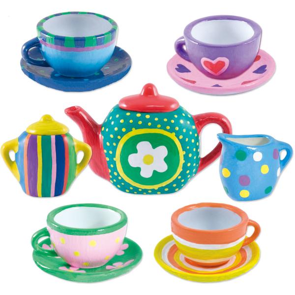 Set ceramică Pictează un set de ceai [6]