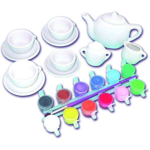 Set ceramică Pictează un set de ceai [4]
