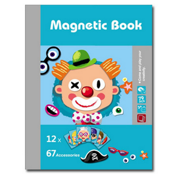 Carte magnetica Puzzle - Crazy Faces 12 planse 1