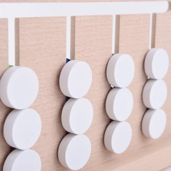 Joc lemn Montessori - labirint cu asociere de culori 4