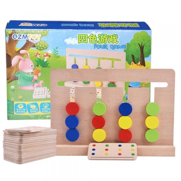 Joc lemn Montessori - labirint cu asociere de culori 5
