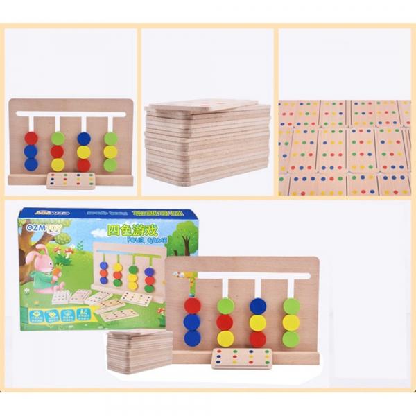Joc lemn Montessori - labirint cu asociere de culori 3