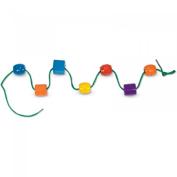 Jucărie de înșiruit din Lemn, Melissa & Doug, 30 piese colorate 2