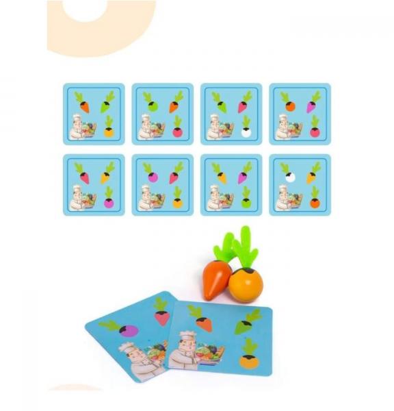 Joc lemn Memorie Gradina cu Legume - Joc Montessori din Lemn Gradina cu Legume [1]