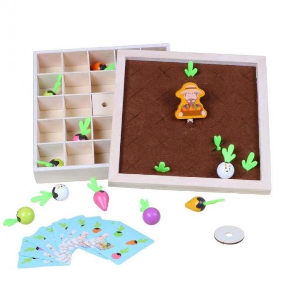 Joc lemn Memorie Gradina cu Legume - Joc Montessori din Lemn Gradina cu Legume [2]
