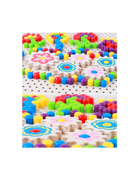 Joc mozaic creativ din lemn de tip Pixel 3
