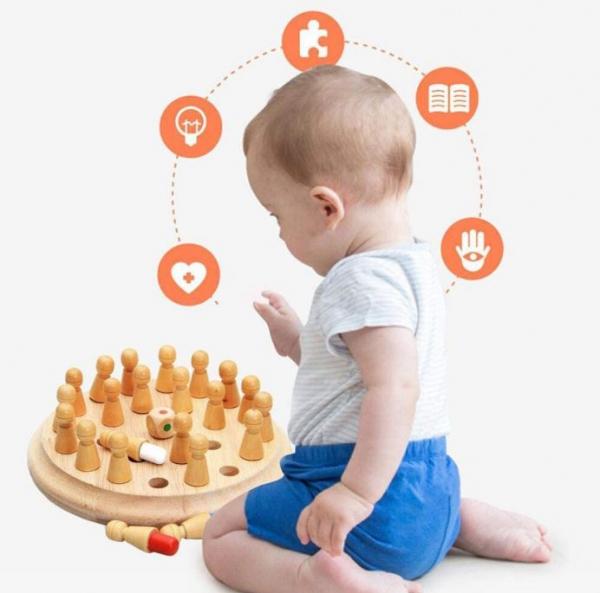 Joc din lemn șah de memorie, 26 Piese 1