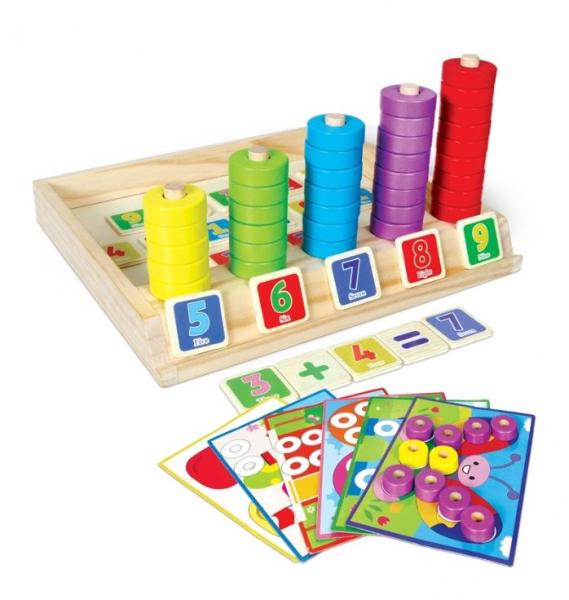 Joc educativ asociere, puzzle şi numărătoare 0