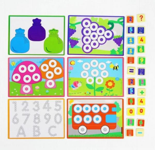 Joc educativ asociere, puzzle şi numărătoare 2